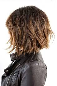 highlights in short dark brown hair