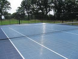 Residential Tennis  SportProsUSABackyard Tennis Court Cost