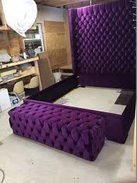 extra tall headboard beds. Exellent Extra Wingback Tufted Bed King Size Queen Full Wing Back  Upholstered Extra Tall H Throughout Headboard Beds B