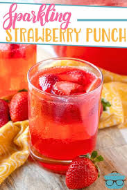 easy sparkling strawberry punch the