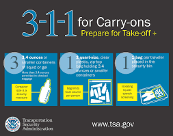 here s the down low on what you can pack with your carry on luge this image is from the tsa