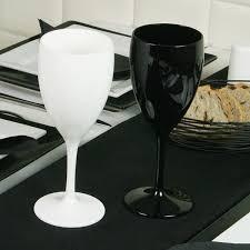 polycarbonate wine glasses black 12oz 340ml