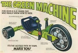 Vintage toy green machine 1970's