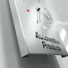 18 inch wall clock inch automotive products metal clock sign la crosse technology 18 atomic outdoor