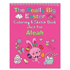Amazoncom Personalized Pink Easter Coloring Books 24 Page Kids