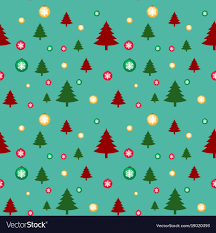 Seamless Background Template With Christmas Trees