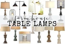 farmhouse table lamps lamp bronze