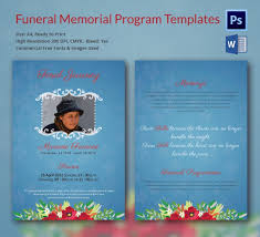 Memorial Program Beauteous Free Funeral Program Layout Templates 48 Funeral Memorial Program