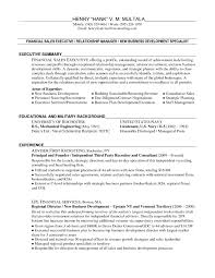 Sample Resume Of A Business Development Manager Refrence Resume