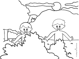 Small Picture Adam And Eve Coloring Page Crafting The Word Of God