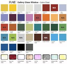 Plaid Gallery Glass Window Color 2oz 59ml For Stained Glass Look Color Chart