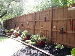 Backyard Fence Decor Outdoor Landscape Backyard Fence Traditional Landscape  Chicago