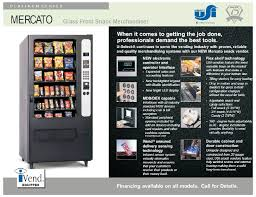 Vending Machine Brochure Interesting Mercato Glass Front Snack Merchandiser Brochure Vencoa Vending Mac