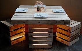 pallet dining set diy pallet coffee table