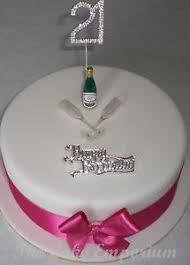 Diamante 18 21 40 50 Champagne Bottleglasses Birthday Cake Packs