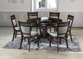 ihome leah 6 seater round table w lazy susan