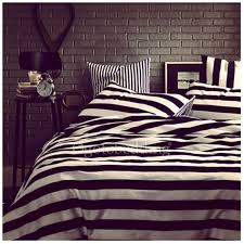 unique black and white striped simple seveteen duvet covers
