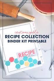 diy customizable recipe cookbook recipe binder printable organize recipes instant