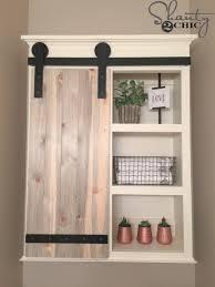 diy bathroom decor ideas diy sliding barn door bathroom cabinet cool do it yourself