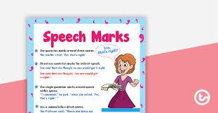 Speech Marks Poster Teaching Resource Teach Starter