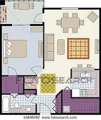 3292 Floor Plan Icon Stock Illustrations Cliparts And Royalty Furniture Clipart For Floor Plans