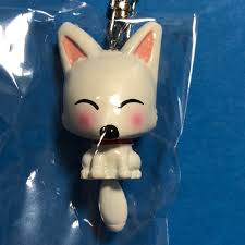 f s fushimi inari l moving white fox key holder cute kawaii kyoto an