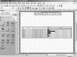 Visio Gantt Chart Template Scheduling Projects With Gantt Charts Microsoft Office