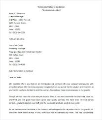 Samples Of Contract Letters Termination Letter Format Contract ...