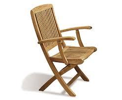 rimini wooden garden chair with arms teak folding chair jpg