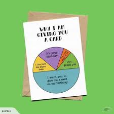 Card Birthday Chart The Birthday Pie Chart Card