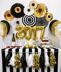 New Year's Eve Decorations, Anniversary, Engagement, Birthday Party  Decorations, Black and Gold