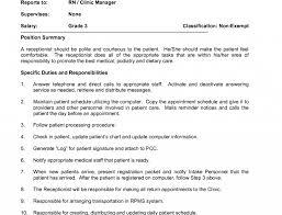 Receptionist Job Resume Job Receptionist Job Duties For Resume Hotel Description Image 96
