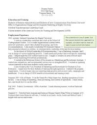 Good Resume Unique Resume Writing Student Services at Regent University