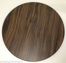 walnut round wooden table top caravan motorhome equipment motorhome caravan accessories