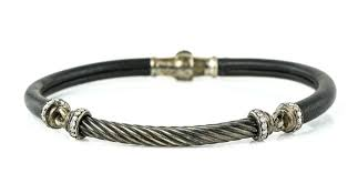 david yurman leather and cable w diamonds bracelet
