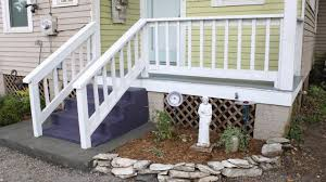wood porch repair and painting project