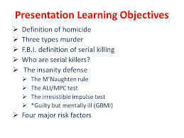 psychology of serial killers ppt video online  presentation learning objectives