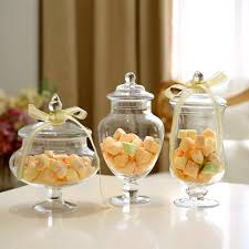 Decorative Glass Candy Jars 100pcsSet Transparent Lid Storage Bottle Glass Candy Jars Wedding 33
