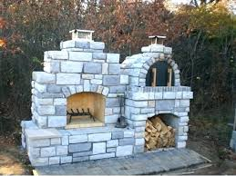 outdoor diy brick oven kit fireplace pizza combo ovens for fire clay wood fired design small