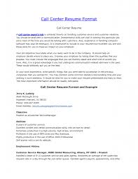 Resume Format For Call Center Job Free Resume Example And