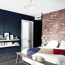 Mens Small Bedroom Ideas With Exposed Brick Walls