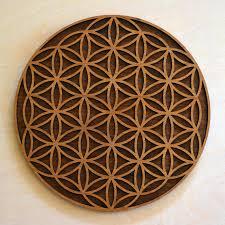 flower of life wall art sacred geometry laser cut art lasertrees item number lt40016