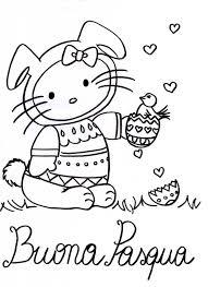 Altro Hello Kitty Buona Pasqua Disegno Da Colorare Disegni Da