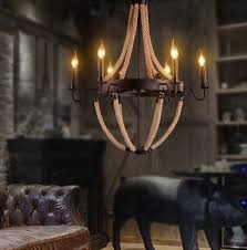 rope collection 8 lamp natural rope chandelier