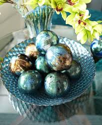 Decorative Sphere Balls Best Blue Green Foil Decorative Sphere Glass And Wooden Eggs Etc