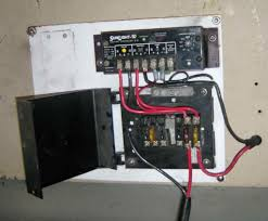 diy truck or rv mounted pv system showing the wiring coming into the charge controller area