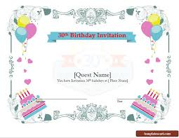 Free 30th Birthday Invitation Wording Templates For Him And