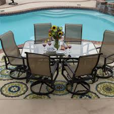 patio set with swivel chairs unique patio swivel chair set