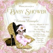 Glitter Baby Girl Shower Invitation Sample Invitations For