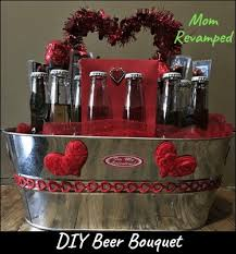 From a valentines bouquet for him to a valentines gift baskets for him, there are many flowers, chocolates and cookies for him this 2/14. Easy Diy Beer Bouquet A Valentine S Day Idea For Him Mom Revamped